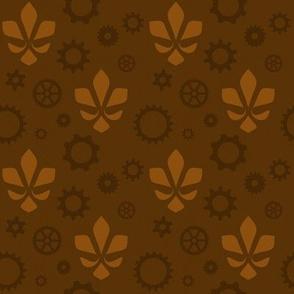 Steampunk Flur - Brown