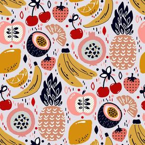 Pastel Funky Fruit (Large version)