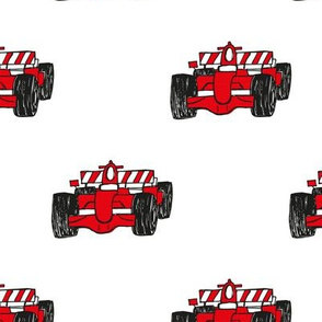 Formula 1 red racing cars