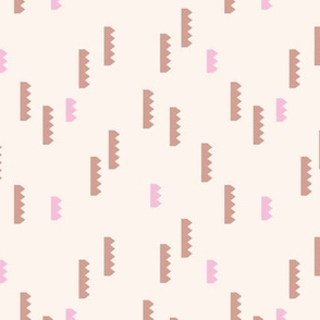 Abstract geometric abstract shape mechanical cartel minimal trend soft pink