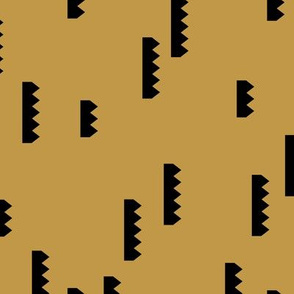 Abstract geometric abstract shape mechanical cartel minimal trend gender neutral mustard yellow