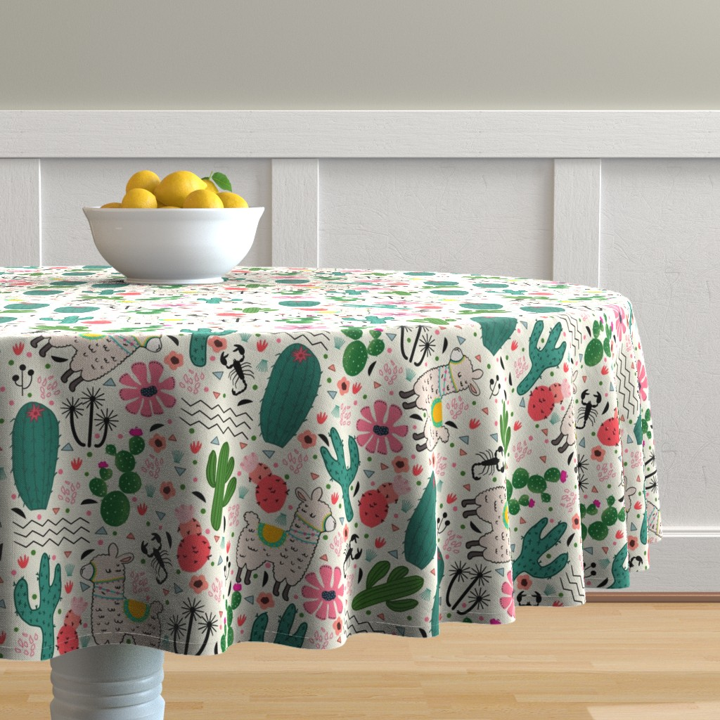 Malay Round Tablecloth featuring Inspirational desert. by maria81