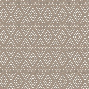 (small scale) Safari Wholecloth Diamonds on brown - farmhouse diamonds - mud cloth fabric C19BS