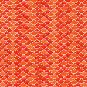 fish scales orange glow