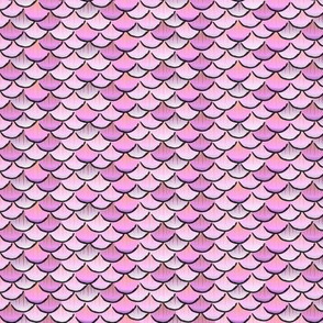 fish scales purple cartoon