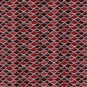 fish scales red