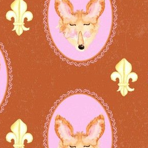 19-02E Autumn Fox Fleur Texture Animal _ Miss Chiff Designs