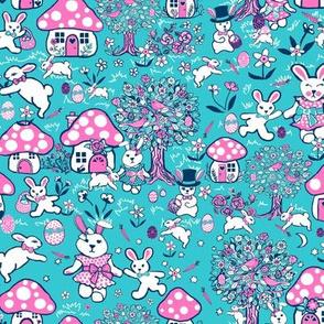 Easter eggs Easter rabbits, woodland rabbit paradise