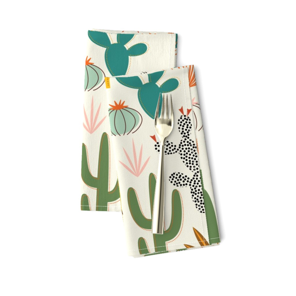 Amarela Dinner Napkins featuring Mod Desert Garden by katerhees