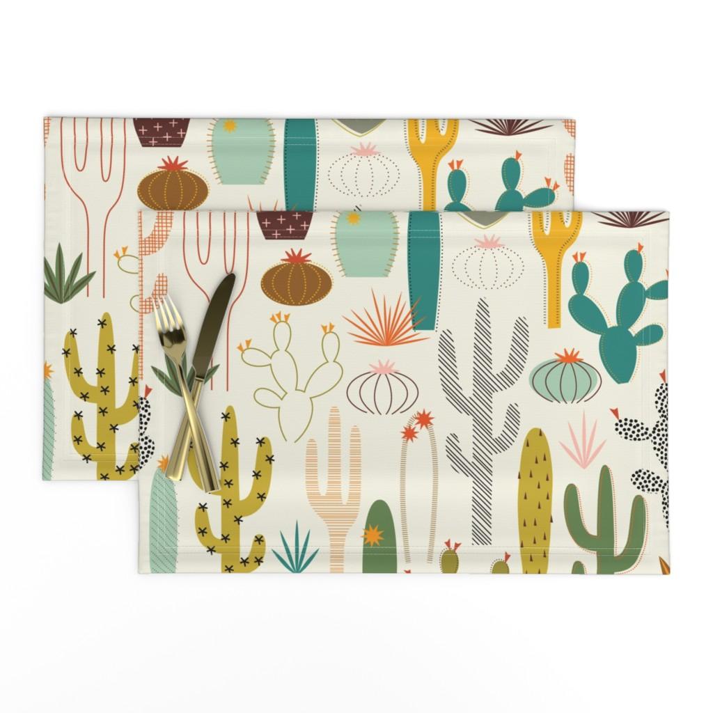 Lamona Cloth Placemats featuring Mod Desert Garden by katerhees