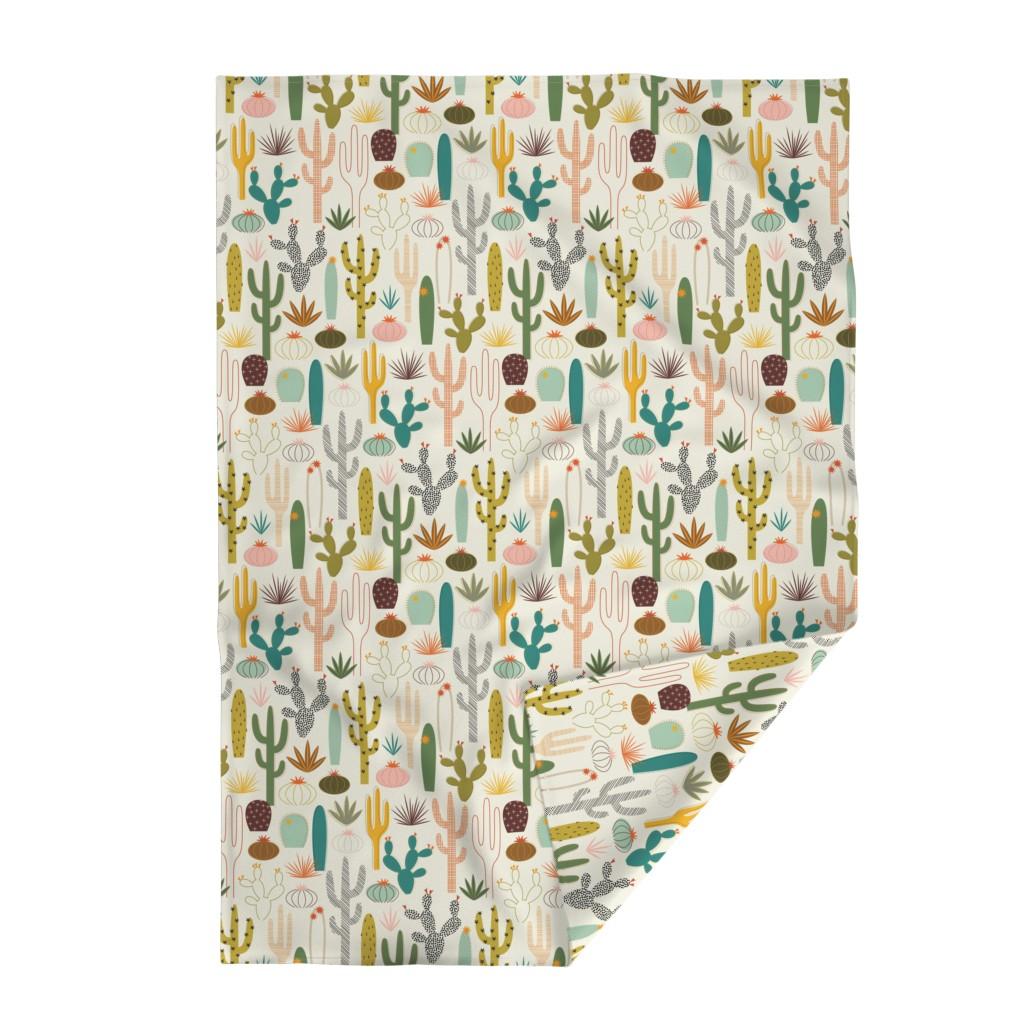 Lakenvelder Throw Blanket featuring Mod Desert Garden by katerhees