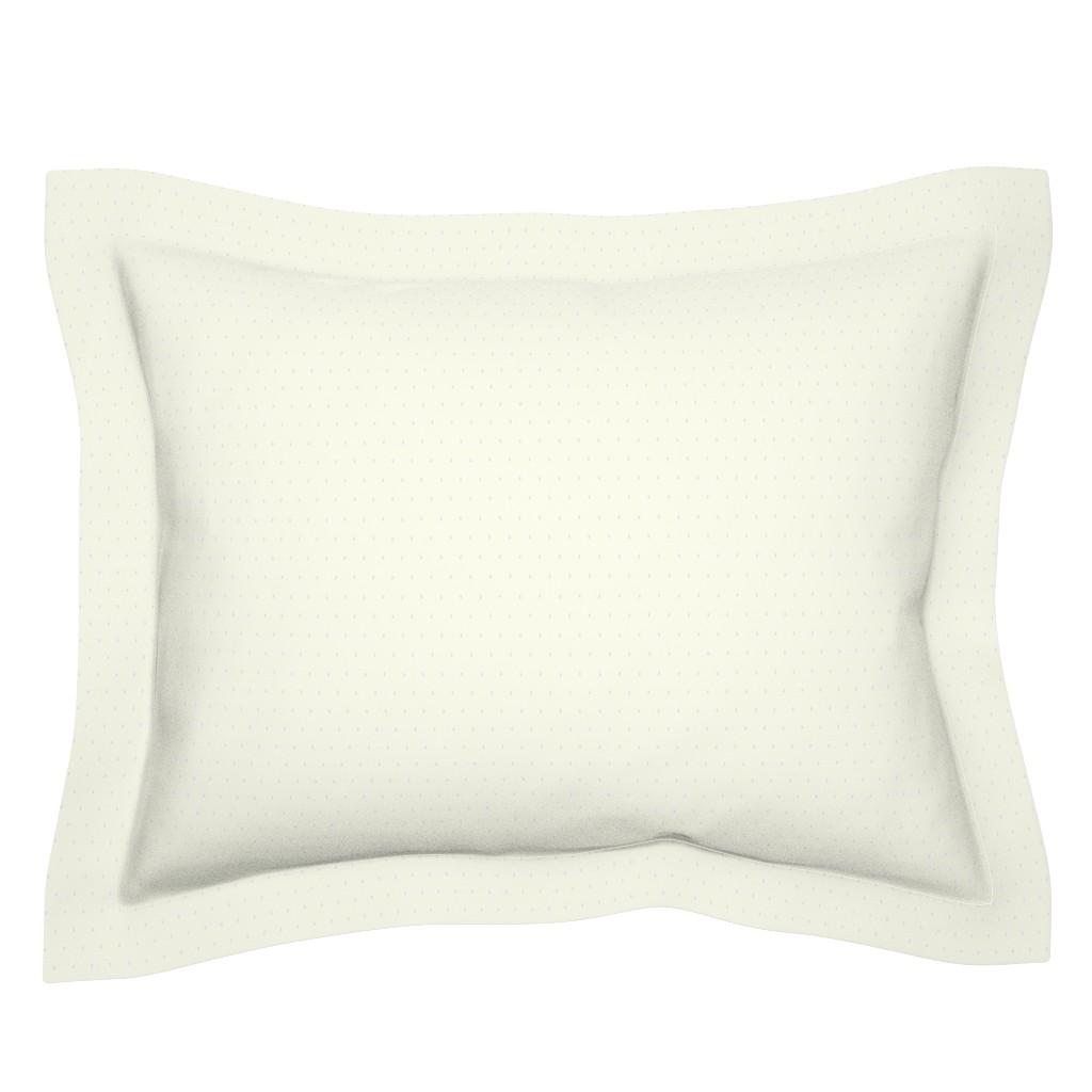 Sebright Pillow Sham featuring Droplets on Ivory by lochnestfarm