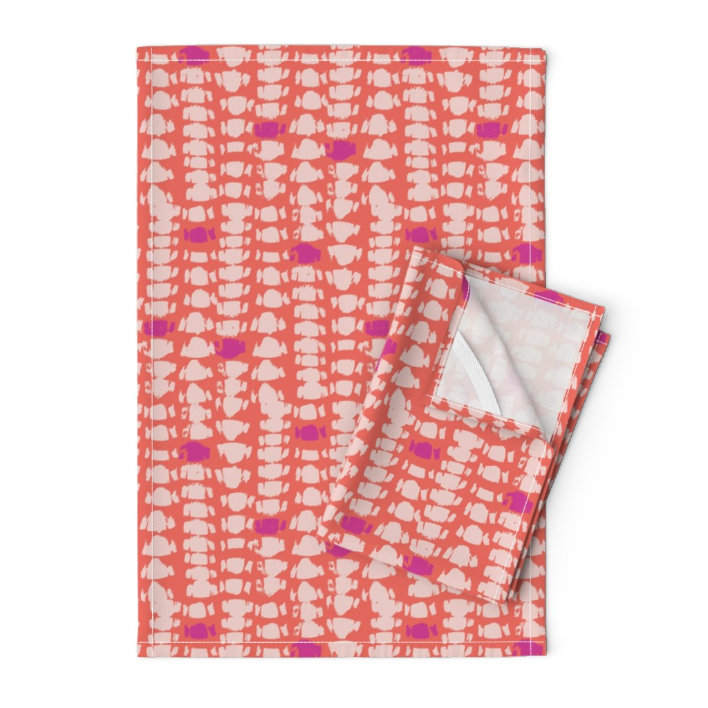 Orpington Tea Towels featuring Wild Lagoon Collection -03 by subee_studio