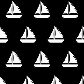 sailboats - nautical - black LAD19