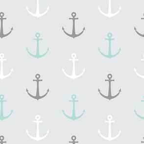 anchors - multi grey and aqua - LAD19