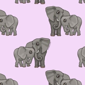 Just Elephants on Lavender