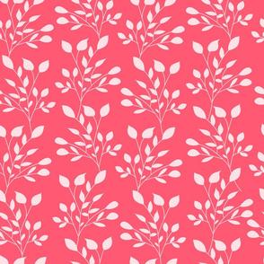 leaves pattern pink