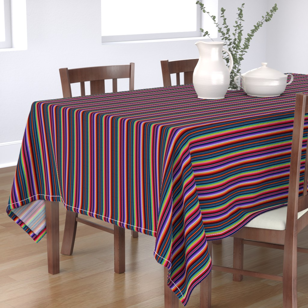 Bantam Rectangular Tablecloth featuring Serape Mexican blanket by sewingpatternbee