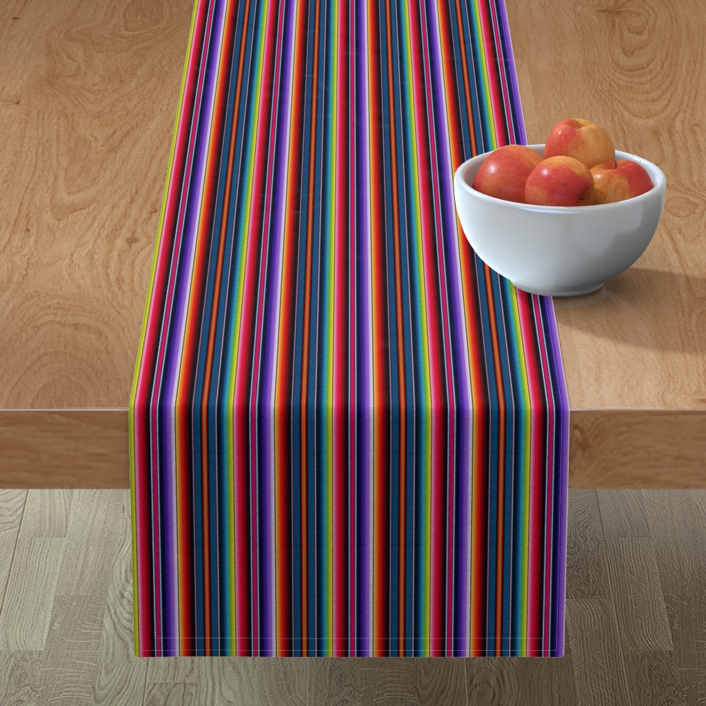 Minorca Table Runner featuring Serape Mexican blanket by sewingpatternbee