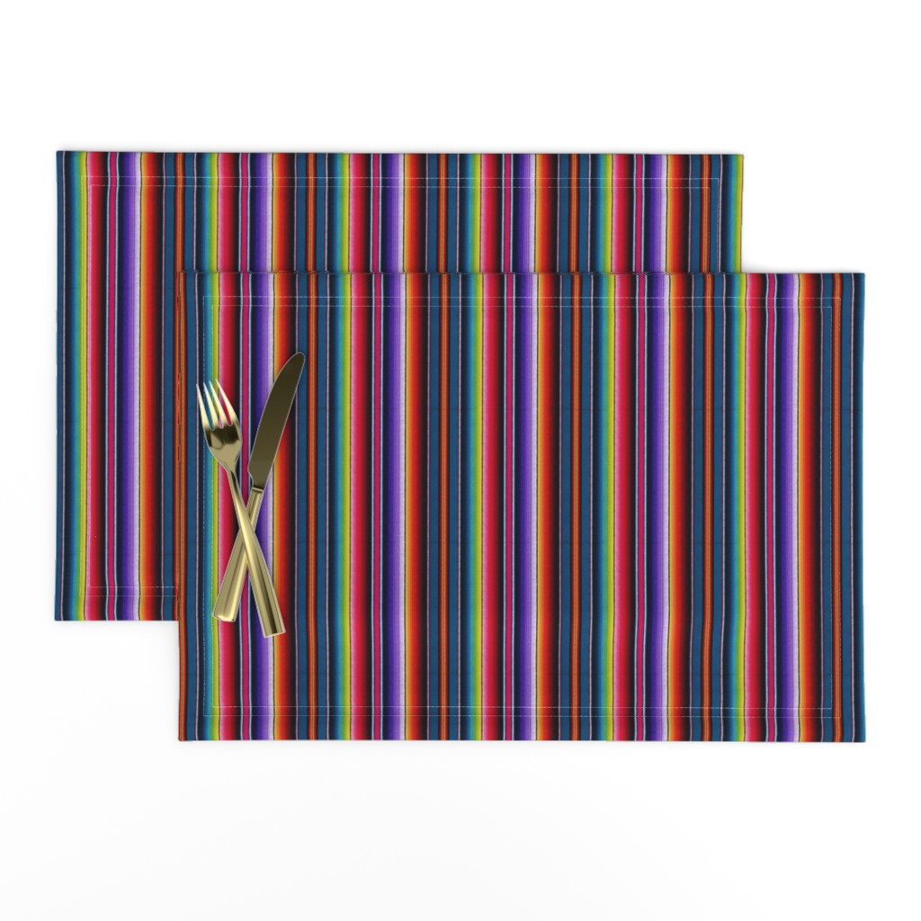 Lamona Cloth Placemats featuring Serape Mexican blanket by sewingpatternbee