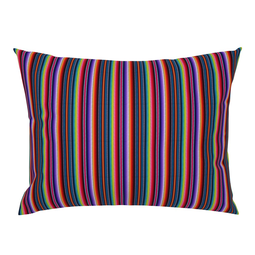 Campine Pillow Sham featuring Serape Mexican blanket by sewingpatternbee
