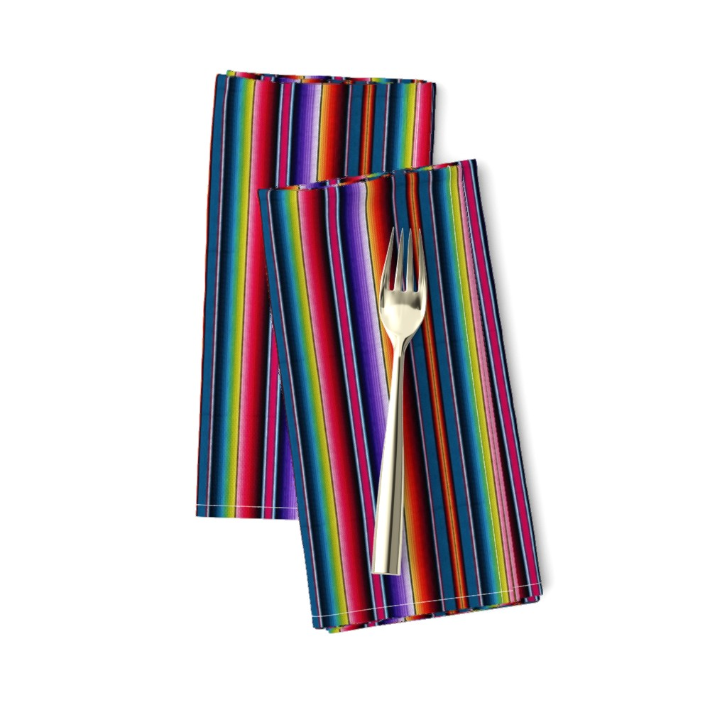 Amarela Dinner Napkins featuring Serape Mexican blanket by sewingpatternbee