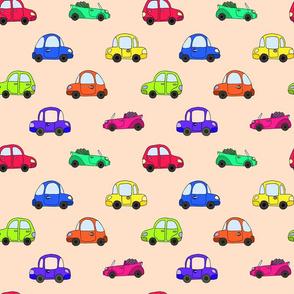 cartoon colorful retro car