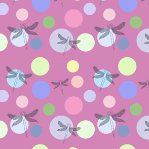 pattern with beautiful dragonflies