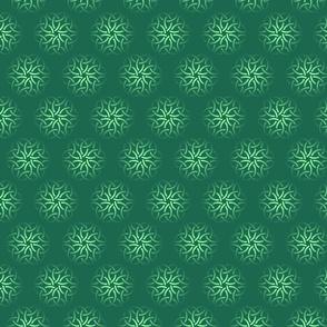 Seamless pattern with celtic knots of shamrocks.