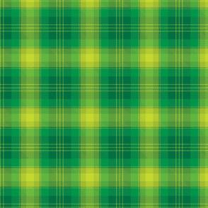 Green plaid.