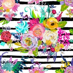 Rainbow Painted Garden // Black Stripe
