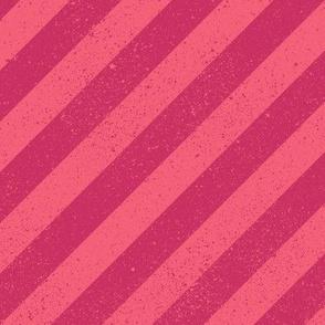 Diagonal Spatter Stripe Berry