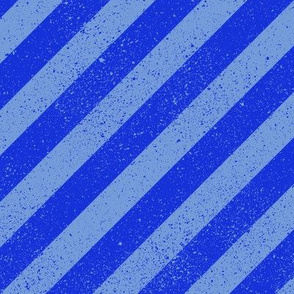 Diagonal Spatter Stripe Blue