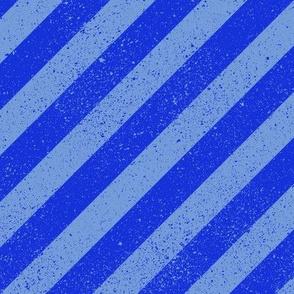 Diagonal Spatter Stripe Blue