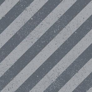 Diagonal Spatter Stripe Grey