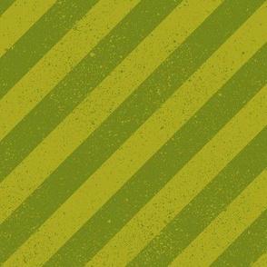 Diagonal Spatter Stripe Lime