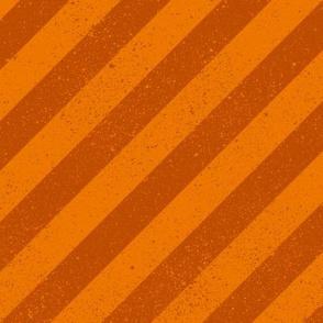 Diagonal Spatter Stripe Orange