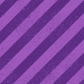 Diagonal Spatter Stripe Purple
