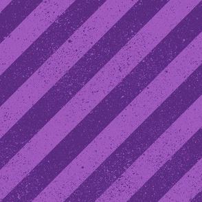 Diagonal Spatter Stripe Purple
