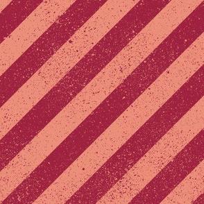 DiagonalSpatterStripeSalmon