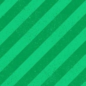Diagonal Spatter Stripe Emerald