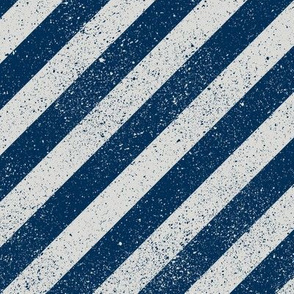 Diagonal Spatter Stripe Navy
