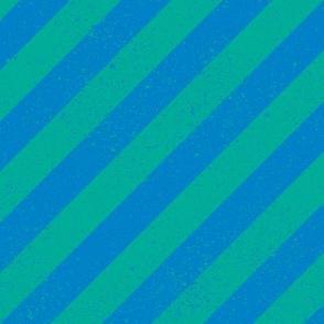 Diagonal Spatter Stripe Ocean