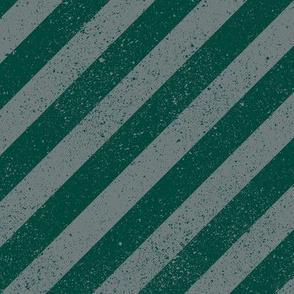 Diagonal Spatter Stripe Wizard Green