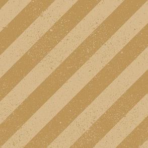 Diagonal Spatter Stripe Tan