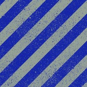 Diagonal Spatter Stripe Wizard Blue