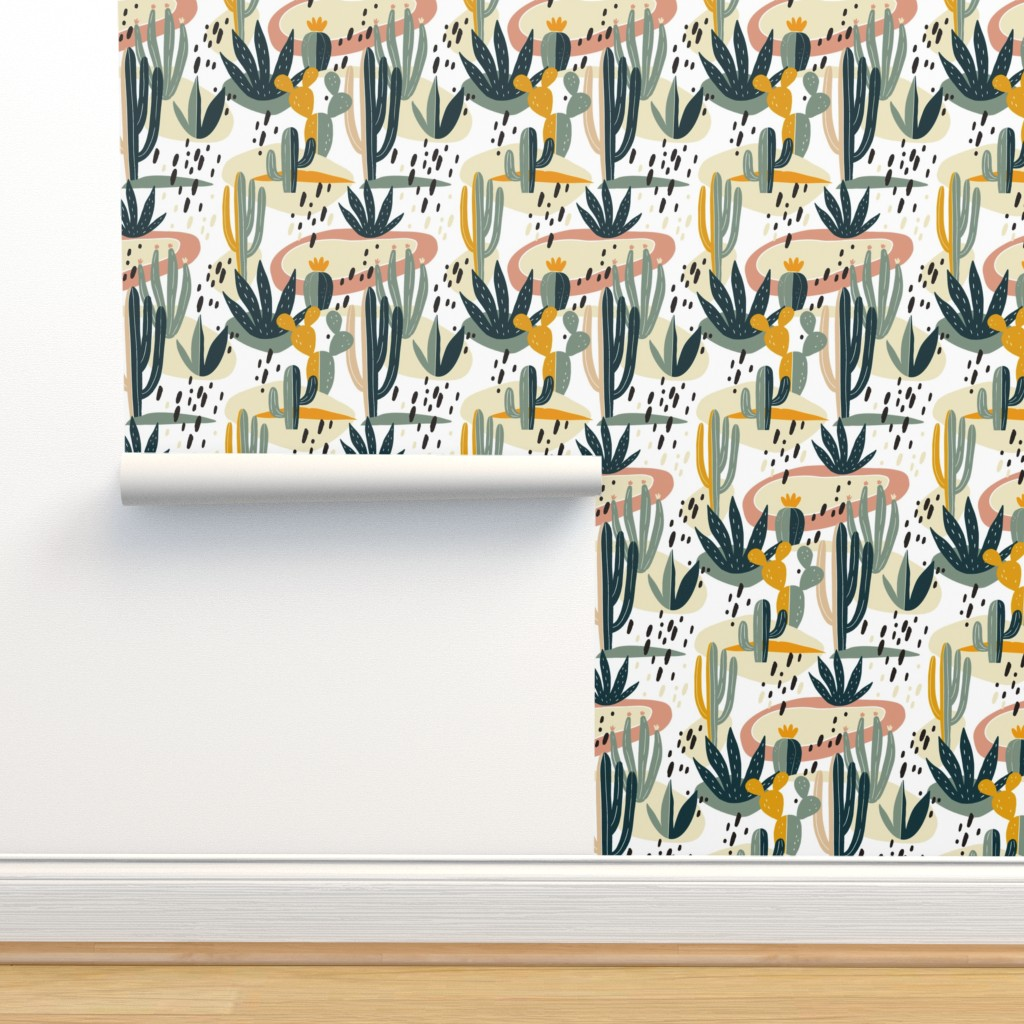 Isobar Durable Wallpaper featuring Desert Cactus by slava