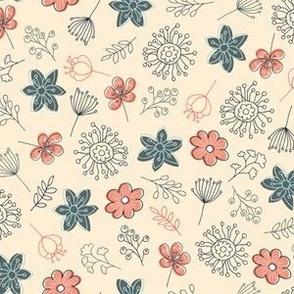 Cute Flowers - Beige