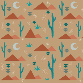 dusty desert night