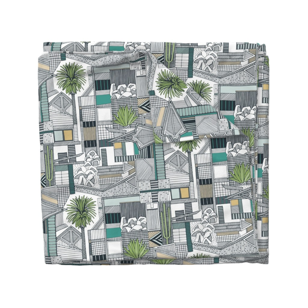 Wyandotte Duvet Cover featuring sonoran by scrummy